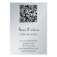 qr code business card templates chubby size bizcardstudio
