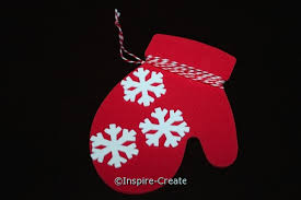 mitten ornaments w snowflakes inspire create