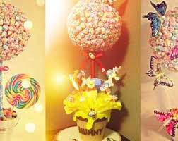 Candy Topiary Centerpieces - lollipop topiary etsy