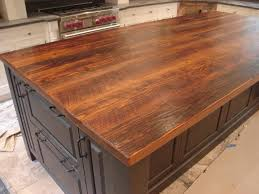 Kitchen Island Wood Countertop I Must Have This Fabulous Wood Plank Countertop Stunning