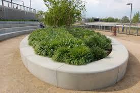 concrete planters grand canal square landscape architects pages dublin ireland