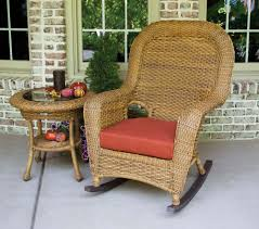Resin Wicker Rocking Chair Tortuga Outdoor Lexington Wicker 2 Piece Rocker And Side Table Set