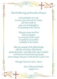world meeting of families 2015 prayer catholic family