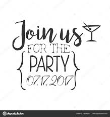 cocktail party black and white invitation card design template