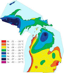 Growing Zone Map File Michiganhardinesszones In Celsius Svg Wikimedia Commons