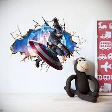 spiderman superhero wall stickers for kids nice room design superhero wall stickers with captain america