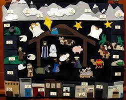 nativity advent calendar nativity advent calendar etsy