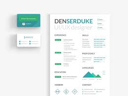 resume u0026 business card by den serduke u2013 uxfree