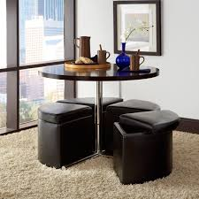 ottoman with 4 stools coffee table round coffee table with stools underneath 4 ottomans