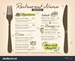 menu design template