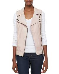 motorcycle vest bagatelle leather motorcycle vest in pink lyst