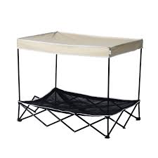 Pet Canopy Bed Pawhut 40 Elevated Mesh Pet Cot Bed With Canopy White Black
