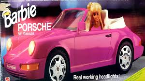 pink porsche convertible porsche de barbie comercial de tv 1992 youtube
