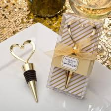 wine wedding favors gold heart wine stoppers for heart themed wedding favors
