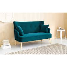 Sofas For Small Spaces by Petrol Blue 2 Seater Velvet Sofa Living Rooms Kitchens And Room