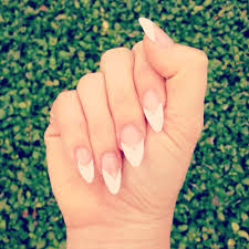 french v tip stiletto nails by tri the best nail shop in