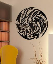 wall decals for home wall vinyl stickers vinyl art decals vinyl wall decal sticker alaskan fish and bird os dc152