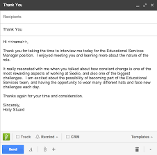 thank you for the interview email template creative templat