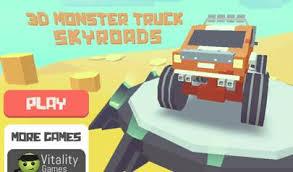3d monster truck skyroads il gioco