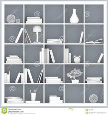 white bookshelves illustration stock illustration image 42243531