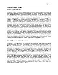 literature review in tourism research