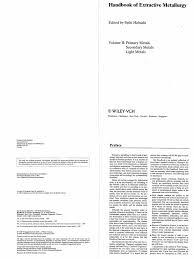 fathi habashi handbook of extractive metallurgy primary metals