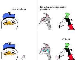 Bogs Meme - bogs tiem raep dolan know your meme