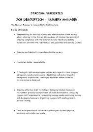 Sample Resume For Kitchen Helper Safety Director Job Description Generic Job Description Band 8b