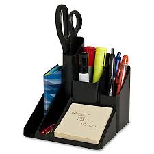 Desk Organizer Sparco 5 Compartment Desk Organizer 6 H X 6 W X 6 D Black By