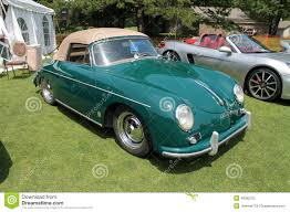 vintage porsche 356 vintage porsche sports car editorial stock photo image of bonnet