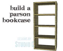 a simple bookcase to build with an open design u2013 designs by studio c