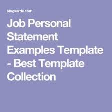 personal mission statement examples professional resume writing