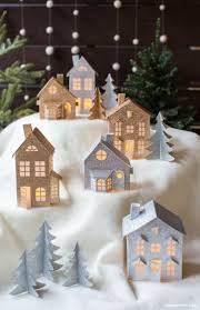 3d paper christmas village christmas villages diy paper and
