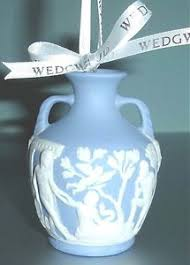 wedgwood portland vase christmas ornament jasperware blue u0026 white