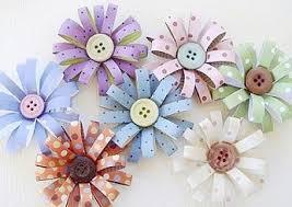 button flowers diy paper button flower button flowers diy paper and craft