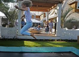 Trampoline Hanging Bed by The Spirit Of The Beach Comes Home In Minneapolis Designer