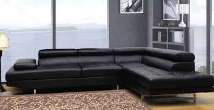 Sofa Manufacturers Usa Global Furniture Usa 8136 Sectional Sofa Bonded Leather Black