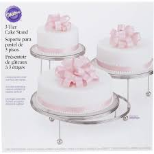 3 tier wedding cake stand cakes n more 3 tiered party stand wilton