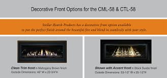 cml 58 contemporary linear dv gas fireplace stellar hearth products