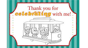 daniel tiger u0027s neighborhood party thank you coloring card pbs