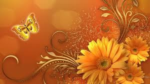 Autumn Flower Flower Fantastic Fall Floral Autumn Flowers Butterfly Gold