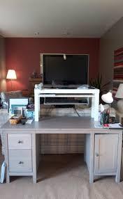 astonishing rectangle white metal ikea stand up desk hack sliding