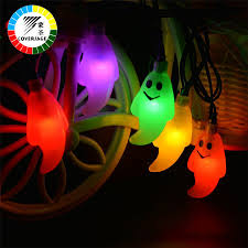 Halloween Lights On House Outdoor Orange Led Party String Lights Black Wire Halloween