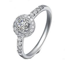 white gold engagement rings cheap graceful halo engagement ring half carat cut