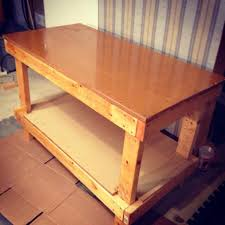 Plans For Making A Wooden Workbench by How To Make A Table For Wood Shop With Simple Materials Snapguide