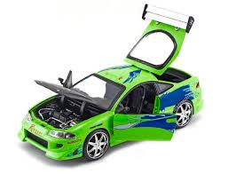 fast and furious 1 cars jada fast and furious brian u0027s mitsubishi eclipse 1 24 green