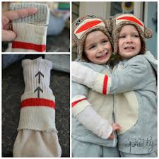 sock monkey costume costume ideas sweet diy sock monkey a pop of pretty