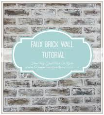 from my front porch to yours diy faux brick wall tutorial using as promised i am going to try and explain how i achieved our faux brick wall finish we started with two faux brick panels from lowes