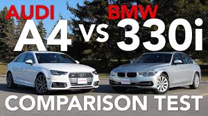 audi a4 comparison 2017 audi a4 vs bmw 3 series comparison