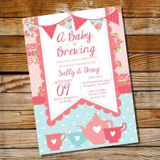 baby is brewing baby shower invitation for a shabby chic